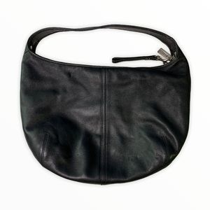 Coach Classic Leather Hobo Bag Black